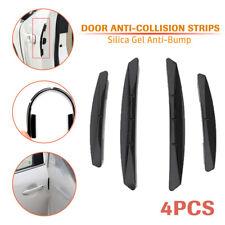 4X Car Door Edge Strip Anti-collision Scratch Protect Guard Exterior Trim Black
