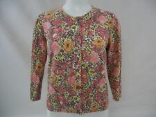 J. Jill Womens Cardigan Stretch Multi Color Floral Size S