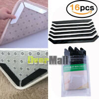 16Pc Rug Gripper Anti Curling Rug Non Slip Pad Carpet Place Holder Grip Skid Mat