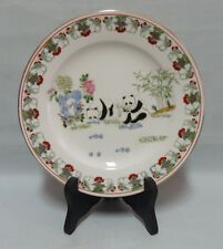 """Vintage China Porcelain Plate Pandas Serie 1979 Hand Decorated 8"""""""