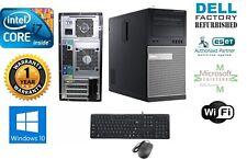 Optiplex TOWER PC i7 3770 Quad 3.4GHz 16GB 1TB Win 10 Pro 64 Dual monitor DVI210