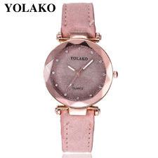 Fashion Women's Casual Quartz Leather Band Starry Sky Watch Analog Wrist Watch