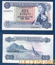 Ile Maurice – 5 Rupees 1967 Elisabeth II NEUF UNC – Mauritius
