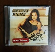 Gretchen Wilson Here For The Party Signed Autographed CD Cover In Case With CD