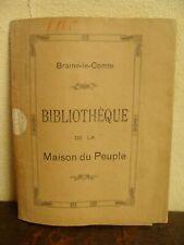 Ancienne jaquette de livre - Bibliothèque de la Maison du Peuple Braine-le-Comte