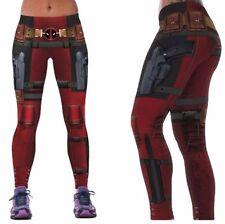 4f82f5a3cc Marvel Comics DEADPOOL Suit Up Yoga Pants osfm Leggings PREMIUM QUALITY!