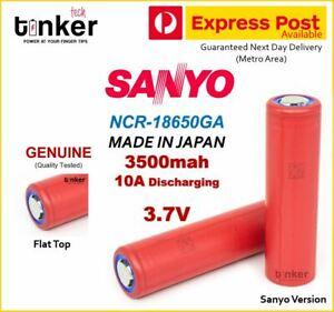 SANYO NCR 18650 GA 3500mAh 3.7v Lithium ion Li-Ion FLAT TOP Multipurpose