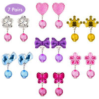 Kinder Ohrringe Klips 14 Paare Clip-on Mädchen Ohrringe Mädchen Spiel Ohrringe