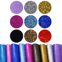 20*34 cm Laser Leather Fabric Sheet with Geometric Dots Sequins Leather For Bows