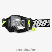 100 % Prozent Accuri Forecast MX Motocross Cross Brille Black Tornado Roll Off