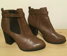 Beautiful Brown Ankle Boots From New Look Size 9