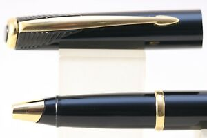 Vintage (c2001) Parker Inflection Lacquered Black Rollerball Pen, GT