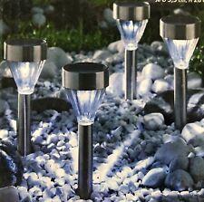 5x LED Solarleuchte Gartenlamp Außenlampe Kugelleuchte Hängelamp Edelstahl Solar