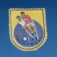 Vintage Patch 1976 Montreal Olympics games Canada USSR Football Russian soviet