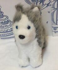 "AMERICAN GIRL Pepper KAYA'S Dog SIBERIAN HUSKY Puppy PLUSH STUFFED 7"" Gray White"