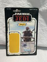 Vintage Weequay Star Wars figure card Kenner 1983 cardback