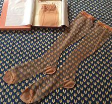 "Vintage Size 11 X 19 1/2"" RHT Knee Highs NIB Sultana 100% Nylon Stockings 5 Pair"