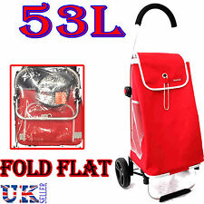 New Eagle 53L peso ligero 2 rueda carrito de la compra carro foldflat Bolso Rojo