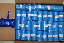 3000 PET DOG WASTE POOP BAGS & FREE DISPENSER blue