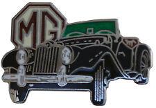 MG TF car cut out lapel pin - Black body