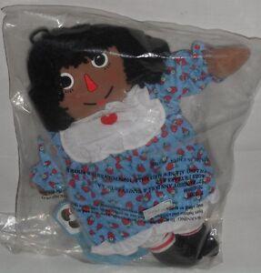 NEW 2000 Avon Black Raggedy Ann Plush Doll Plastic Frame and Brush & Comb set