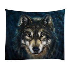 Realistic Wolf Printed Wall Hanging Tapestry with Romantic Pictures Art Nat X3Y8