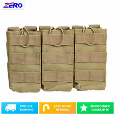 Tan Holds 3 Rifle Triple Magazine Pouch Holster MOLLE PALS Bungee Retention