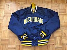 Michigan Wolverines Starter Satin Size Large Jacket