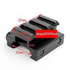 "1/2"" 3-Slot Low Riser WEAVER PICATINNY Rifle Mount/Scope Mount Rail 20mm"