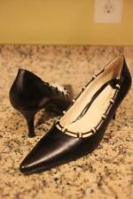 Bruno Magli BLACK LEATHER PUMP HEEL SHOE 9AA (SH3000