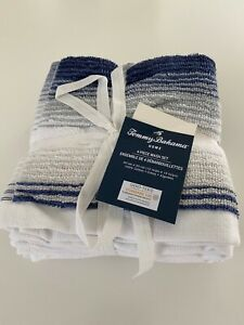 NWT TOMMY BAHAMA Towels Blue Cotton Bath Hand Wash Cloth Quick Dry Choose Set