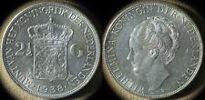 Netherlands :1938 2 1/2 Gulden CH.UNC Deep Hairlines  Full Luster  # 165  IR4532