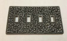Vicenza Designs Wp7008 San Michele Wall Plate Quad Toggle Vintage Pewter