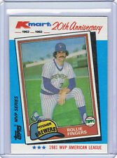 1982 Kmart WRONGBACK ERROR Rollie Fingers Brewers-Joe Torre Cardinals 1971 Topps