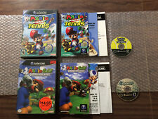 Mario Power Tennis + Golf Toadstool Tour (Nintendo Game Cube LOT) Complete