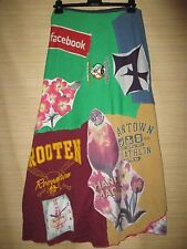 Recycled wrap SKIRT made with upcycled vintage tees OOAK One Size (10-16)