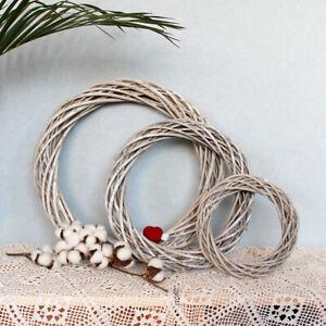 Christmas Rattan Garland Vine Branch Wreath Wicker Ring Wedding Xmas Party DIY