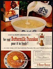 1954 AUNT JEMIMA Pancakes - Black Americana - Syrup - Butter - Retro VINTAGE AD
