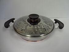 Frying Pan Presto Pride Stainless Copper Bottom Decorated Lid Bakelite Handle