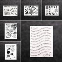 - album transparente stempel silikon - kautschuk frohe weihnachten scrapbooking