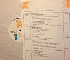 RADIO SHOW: 11/4/87 BIRTHDAYS! ROB GRILL, JAY BLACK, JONI MITCHELL,KEITH EMERSON
