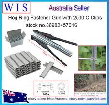 HOG RING FASTENER GUN AUTO FEED,HOG RING HAND STAPLE W 2500 C CLIPS RINGS-86982