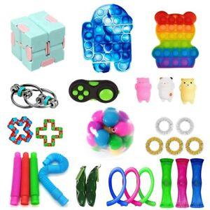 Fidget Toys Set Sensory Tools Bundle Stress Relief Hand Kids Adult Toy 22-28Pack