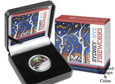 2014 RAM $1 Sydney Holographic Australian 1oz Silver Proof Coin -NYE Fireworks