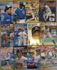 Huge Lot Of 26 Vintage Baseball Card BECKETTS 1987-1989 nice shape