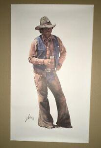 "Gordon Snidow Coors Cowboy AIN'T NO CITY BEER Poster Print-Unframed 17.5x30"" (B)"