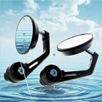 Universal 3'' Round Motorcycle 7/8 Inchs Handle Bar End Rearview Side Mirrors