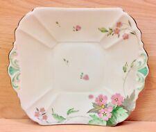 "Shelley Queen Anne Shape ""Pink Phlox"" Pattern 11921 Tab Handle Cake Plate."