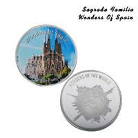 WR Wonders of Spain Sagrada Familia Foil conmemorativo de plata de Foin