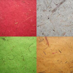 10 MULBERRY PAPER with BANANA BARK inclusions WHOLE SHEETS tissue WRAP